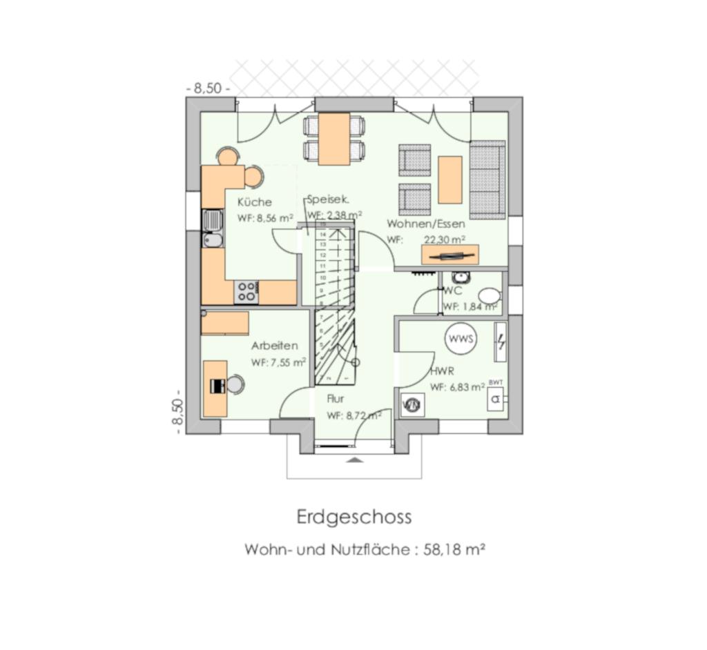 Haustyp-Stadtvilla118-Grundriss EG